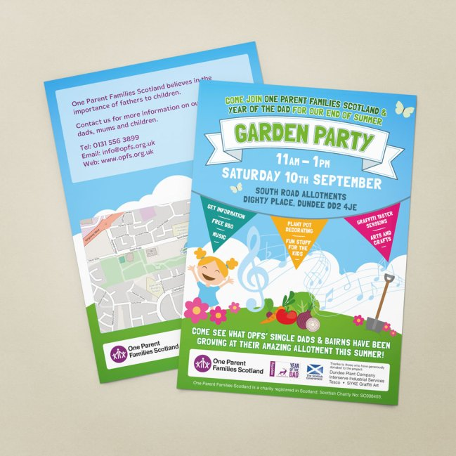 Summer garden party promotional poster