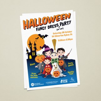 Halloween party promotional poster