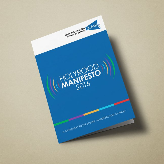 SCoWR Holyrood Manifesto 2016 (cover)