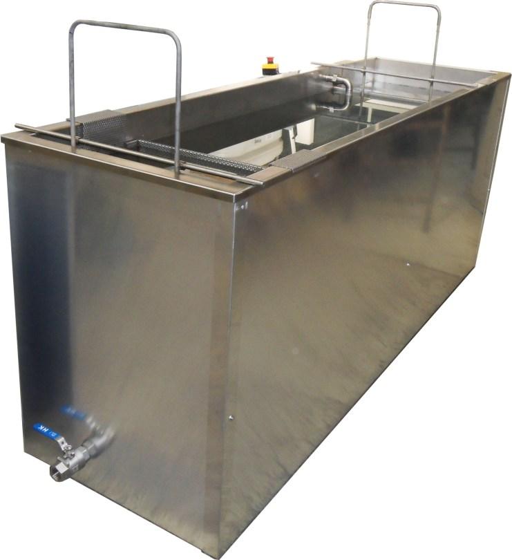 Station de décapage écologique OriginalGreenSpirit en Inox avec filtration, grille de fond (anses) et paniers de trempages pour les petites pièces