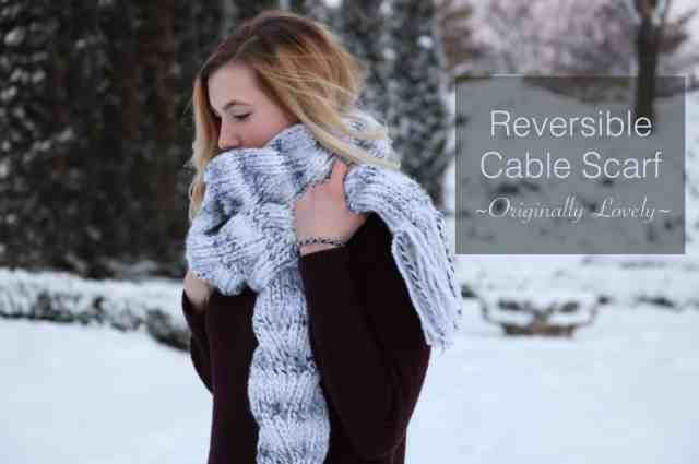Reversible Cable Scarf Knitting Pattern Originally Lovely