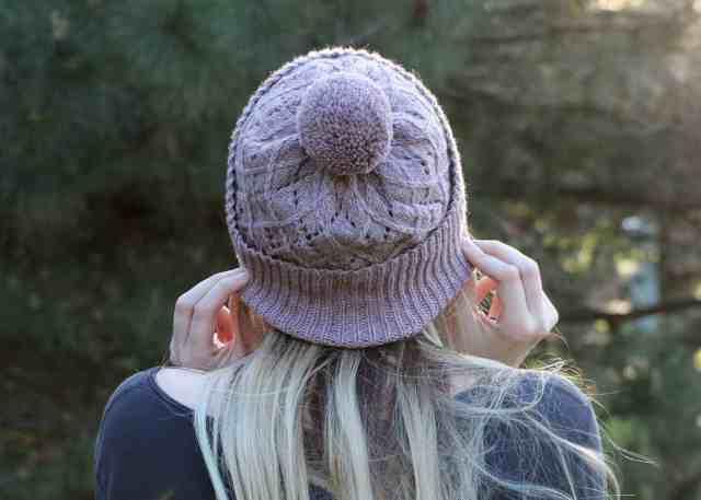 Argyle Hat Knitting Pattern detailed crown decrease view
