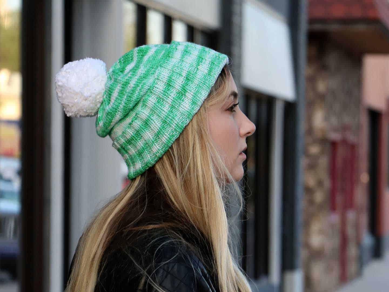 Perfectly Simple Cuffed Hat Knitting Pattern side view 7b7b13b1a49
