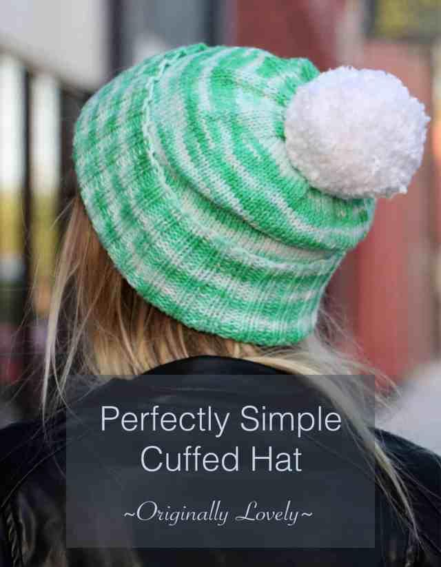 Perfectly Simple Cuffed Hat Knitting Pattern  ea59036f573