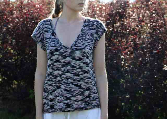 Simply Stockinette Tee Knitting Pattern Front Image