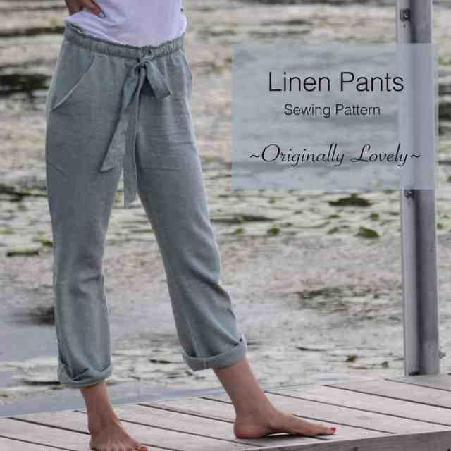 Linen Pants Sewing Pattern   Originally Lovely
