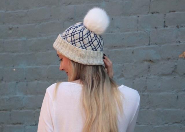 Diamond Lattice Hat knitting pattern side view 3