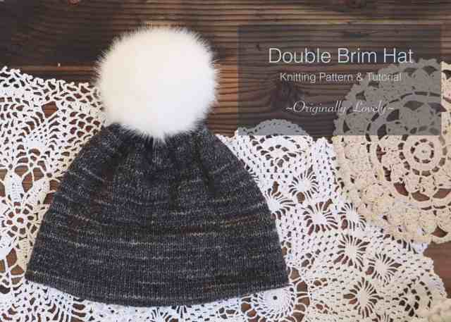 Double Brim Hat Knitting Pattern and Tutorial  2cc73eaa169