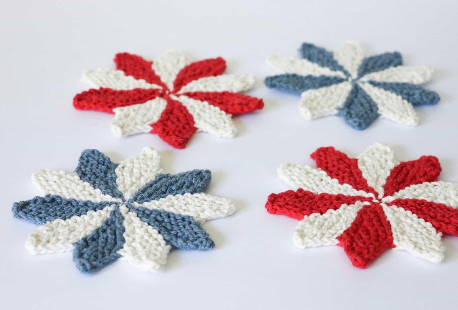 Pinwheel Coasters Knitting Pattern | Originally Lovely