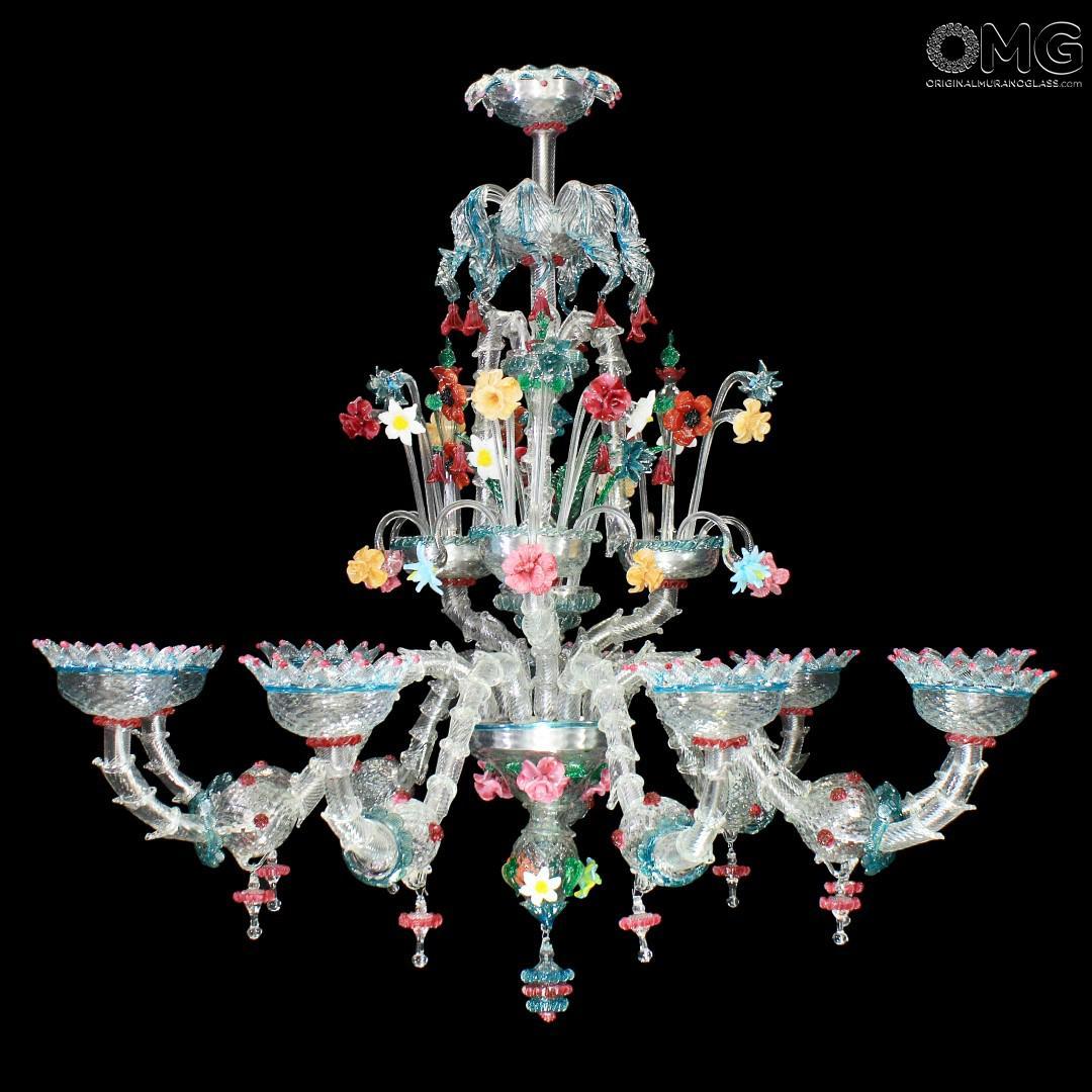 Chandelier Calantha  Rezzonico  Murano Glass  9 lights