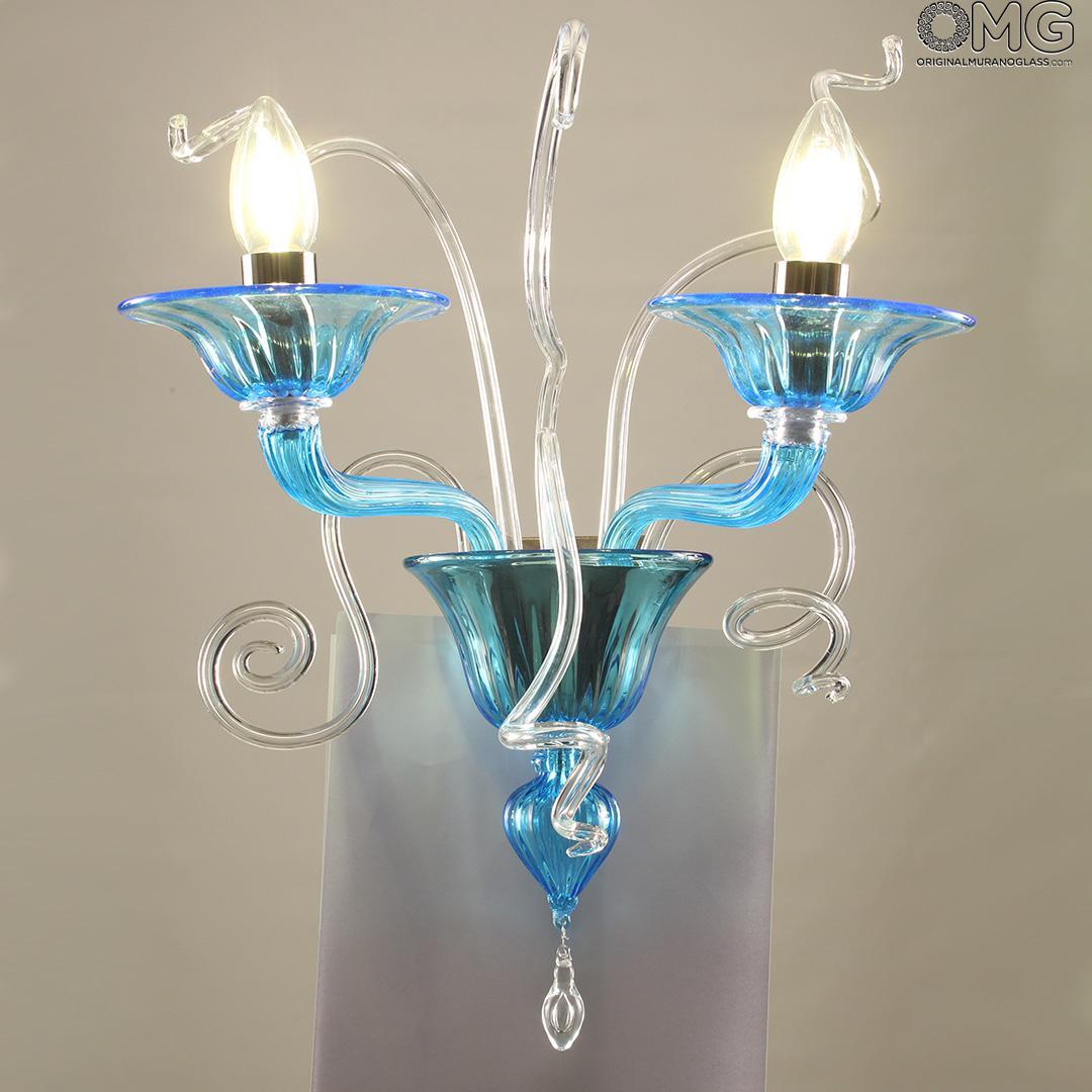 Wall Lamp Carnevale Luxury Murano Glass 2 Lights