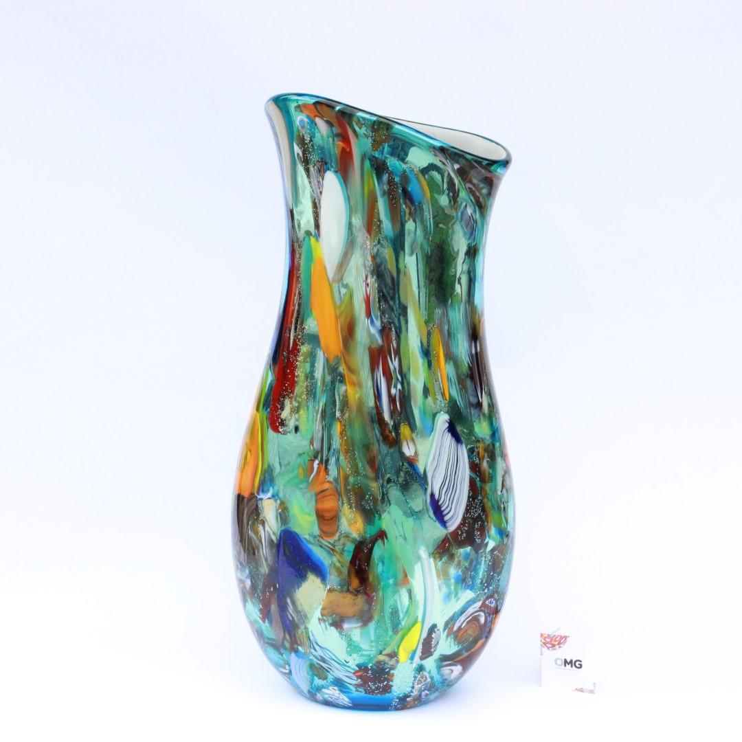 Vase Multicolor Dream Fantasy Original Murano Glass OMG