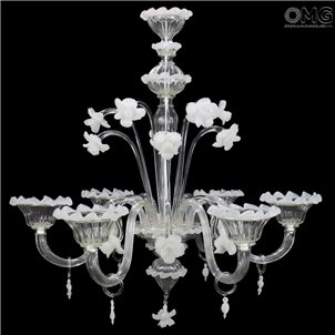 Chandelier Geraneo Fl Murano Glass