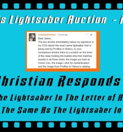 this is a part 4 follow up my part 1 part 2 and part 3 close up looks at the o riginal production used luke skywalker lightsaber from star wars  [ 1400 x 788 Pixel ]