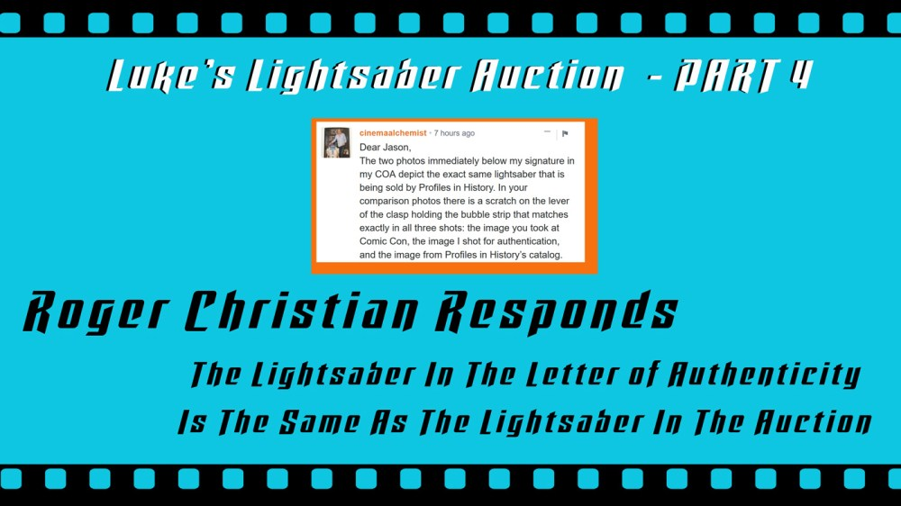medium resolution of this is a part 4 follow up my part 1 part 2 and part 3 close up looks at the o riginal production used luke skywalker lightsaber from star wars