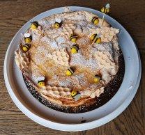 Lemon meringue cake with mascarpone and lemon curd filling