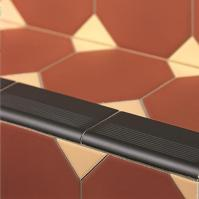 Step Tread Black Ceramic Tile