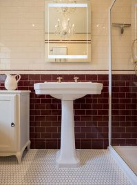 Burgundy Bathroom Tile Designs Photos