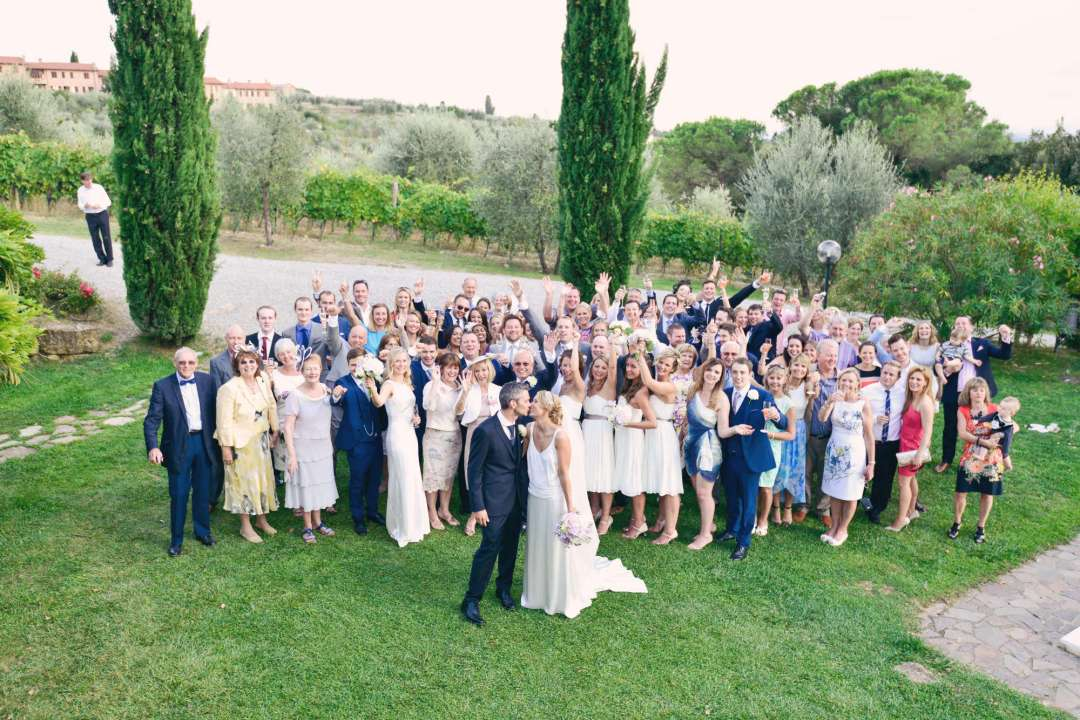Hannah & Warren Wedding at a winery outside of Siena