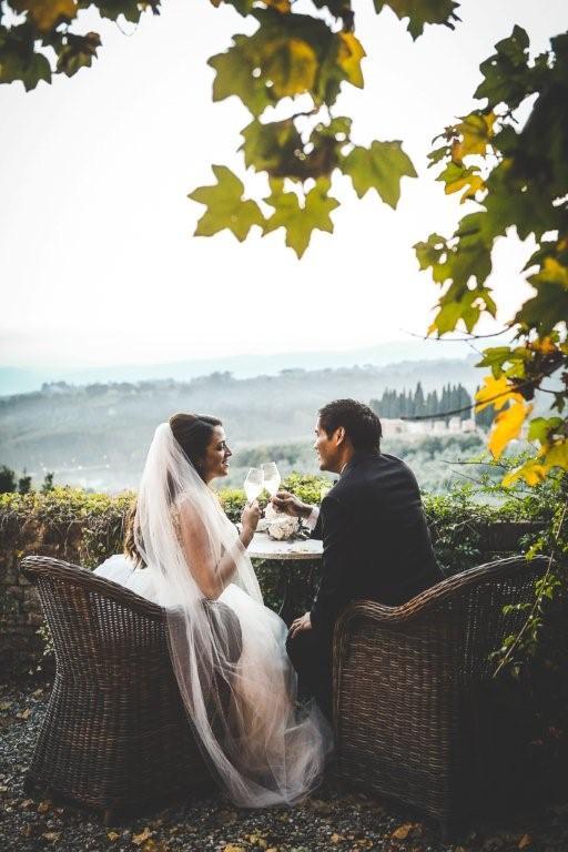 Tara & Alvin celebrate their civil Ceremony in Tuscany