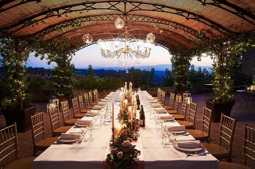 wedding reception at Borgo Petrognano