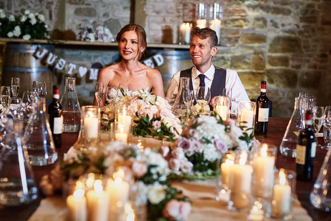 al fresco dinner tuscan wedding