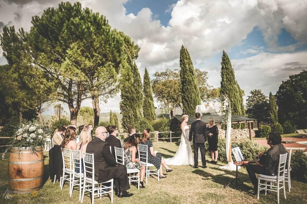Wedding blessing at Tenuta di Papena
