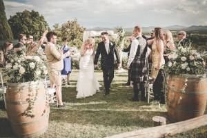 wedding ceremony and reception in an old farm hamlet