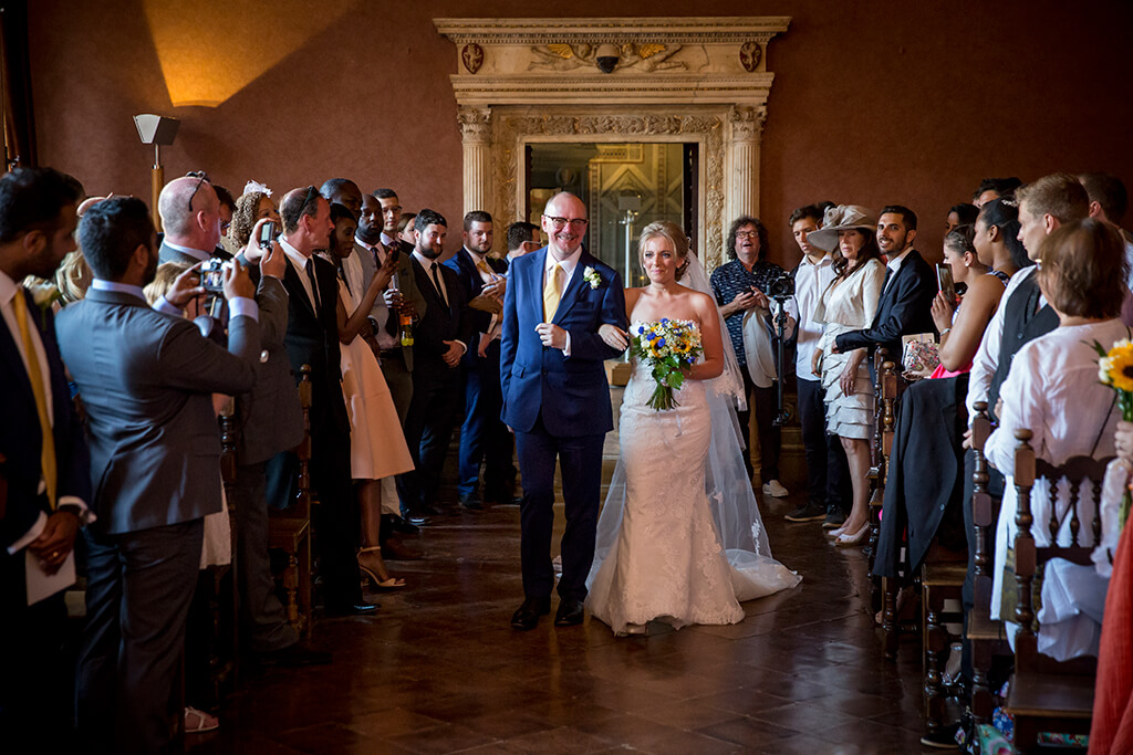 wedding in Siena's palace museum
