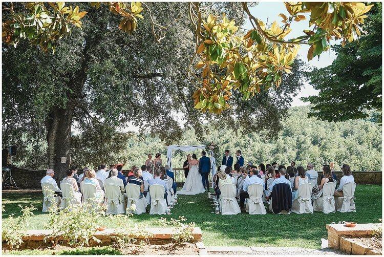 August wedding near Siena
