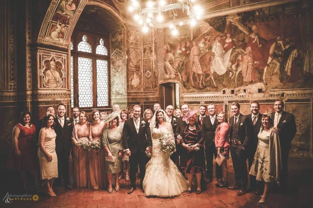 wedding in Siena at Palazzo Pubblico