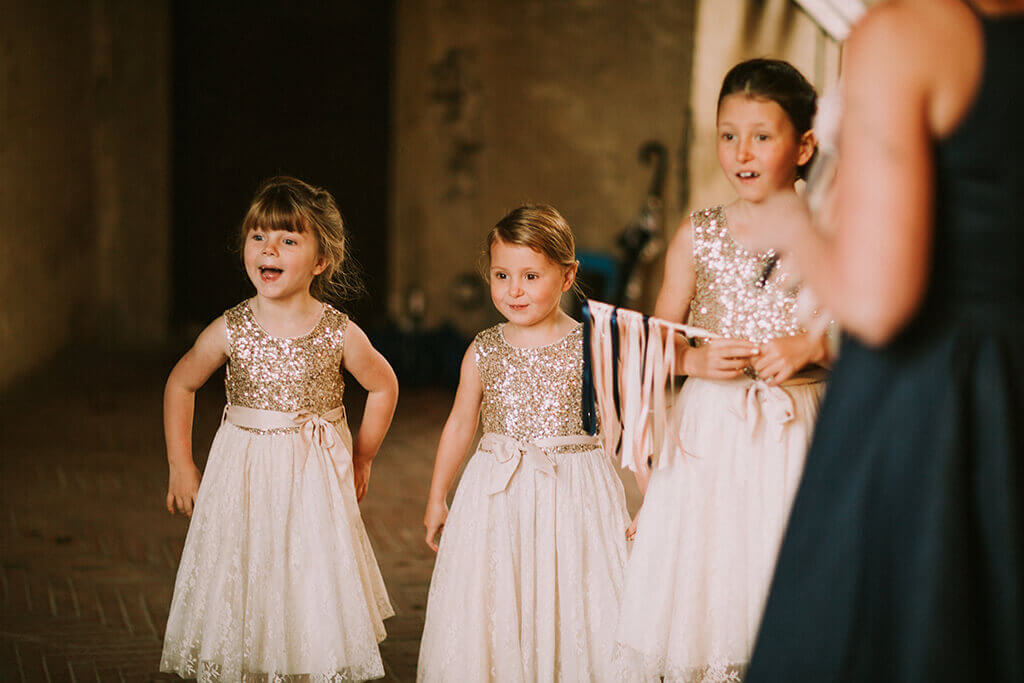 wedding with children tuscany