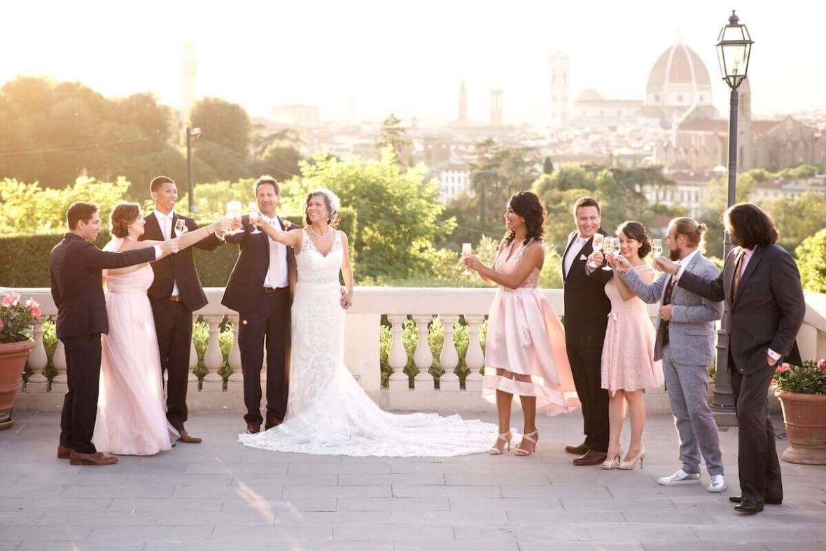 wedding sunset cocktail Florence