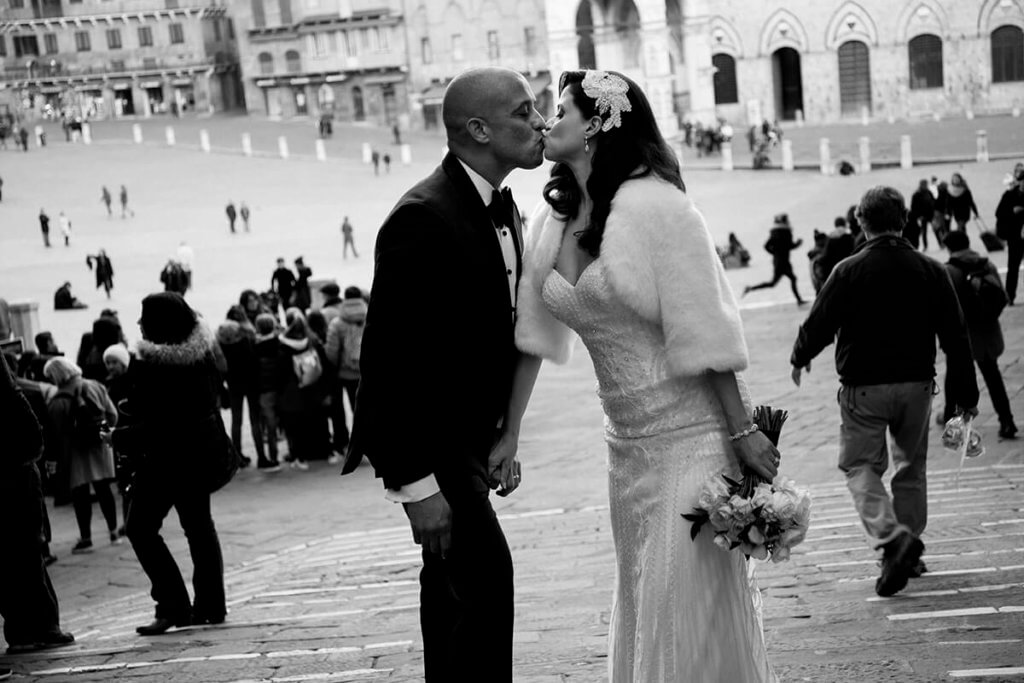 romantic wedding in Siena