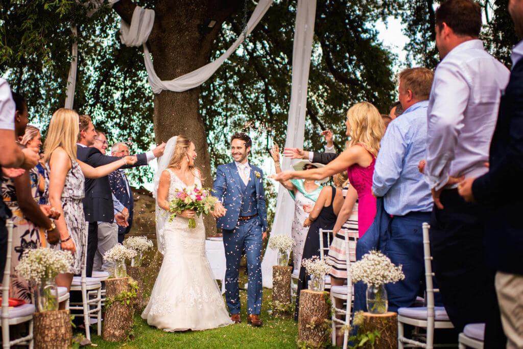 garden wedding ceremony Tuscany
