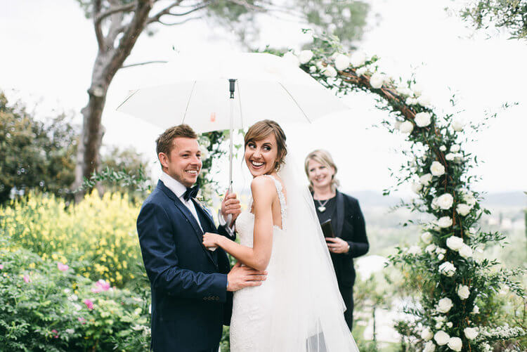 Vicky & Gareth ceremony at Poggio Piglia
