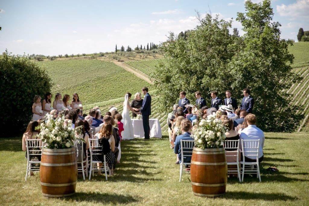 Caroline & Richard winery wedding