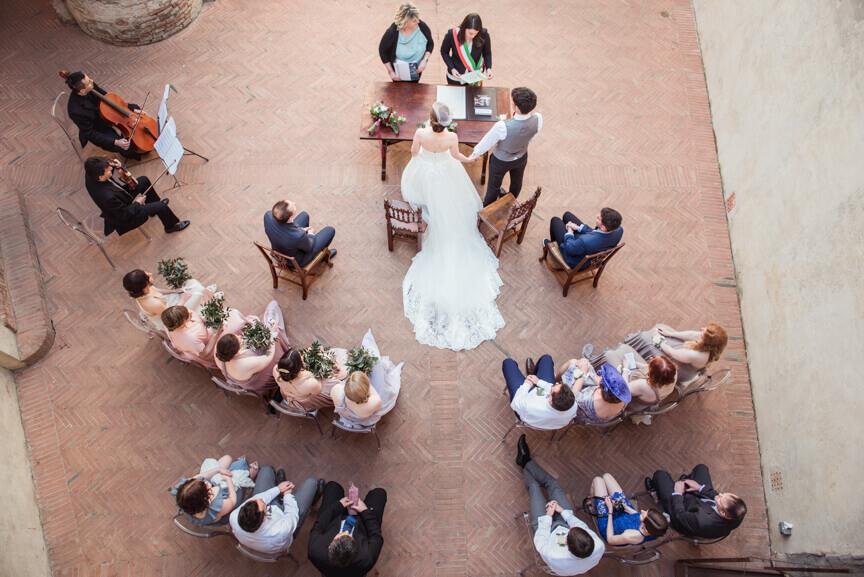 Claire & Mark wedding in Tuscany
