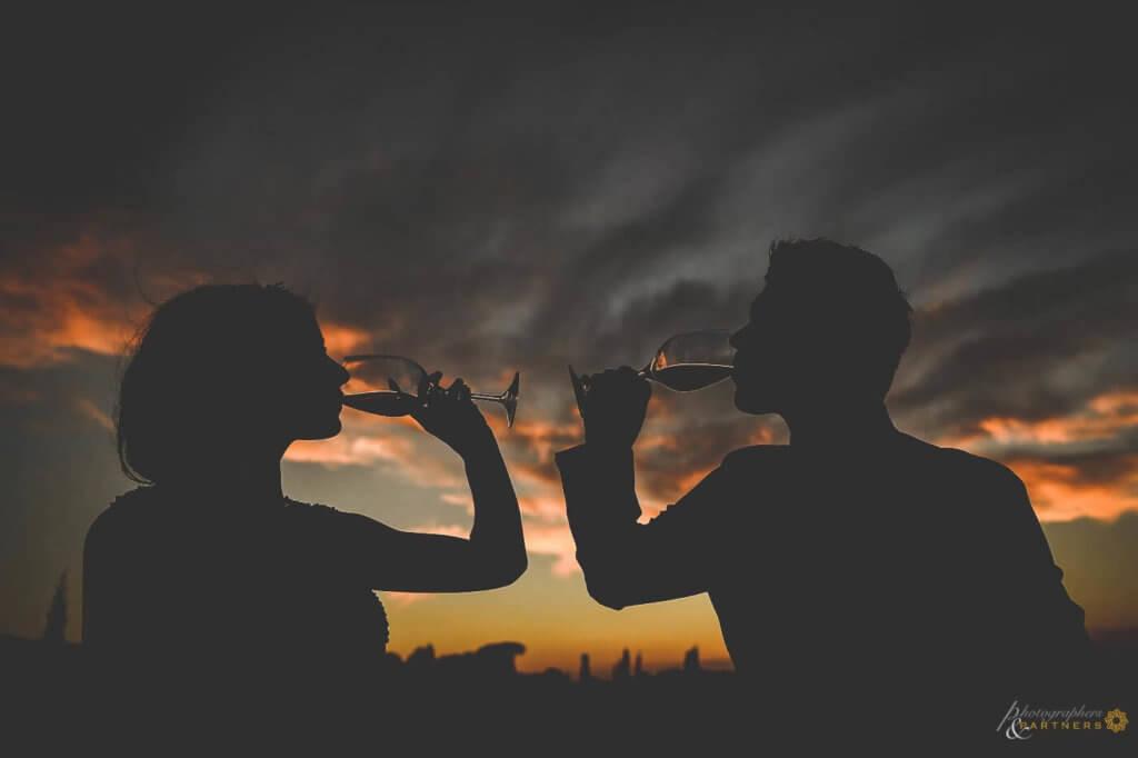 Emma & Edward have a toast at their wedding