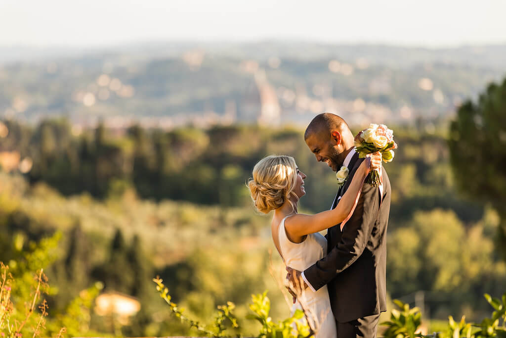 Kristina & Jerome enjoy a wonderful tuscan panorama