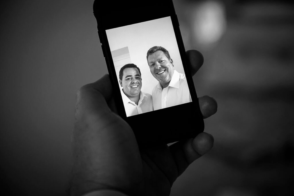 Tim and Dan take a selfie together