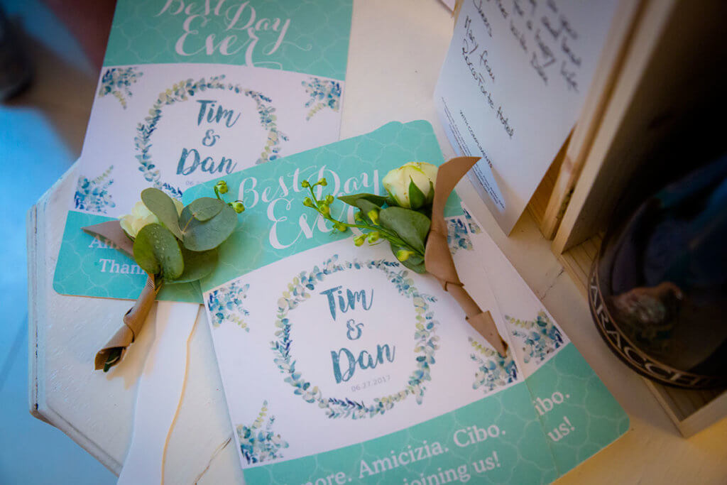 Tim & Dan Stationary for wedding
