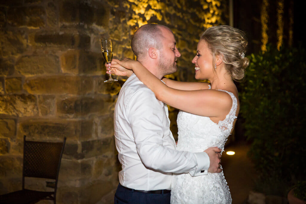 Helen & John have a romantic first dance