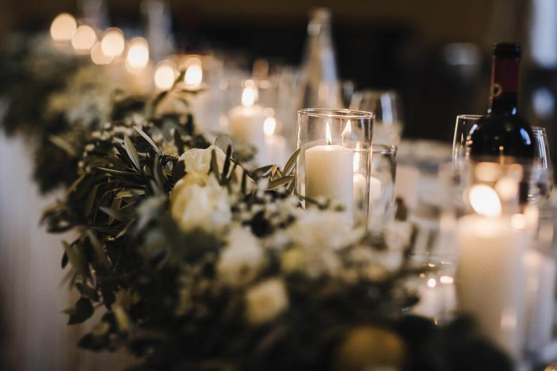 Beautiful decoration of the wedding table