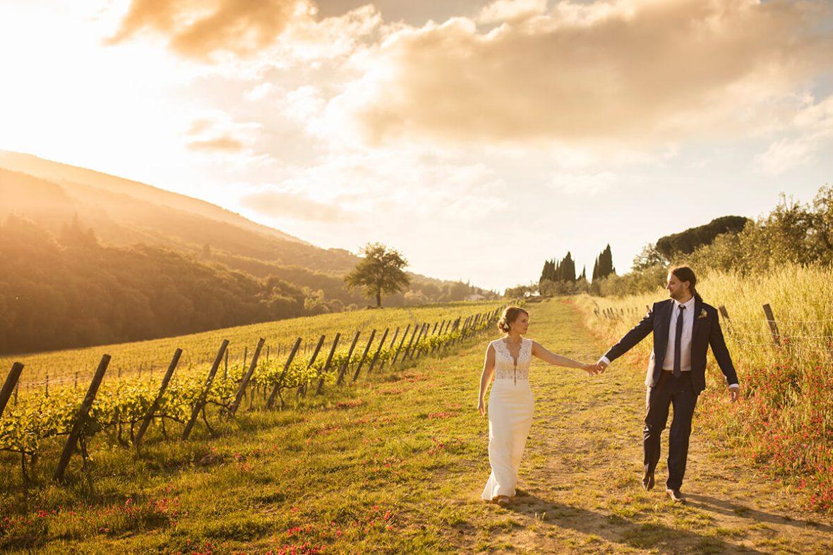 Vineyard Wedding In Tuscany