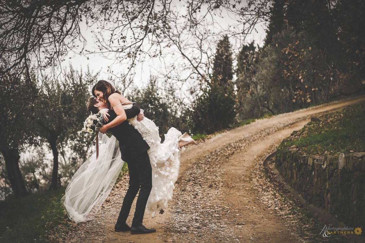 private ceremony in Tuscany