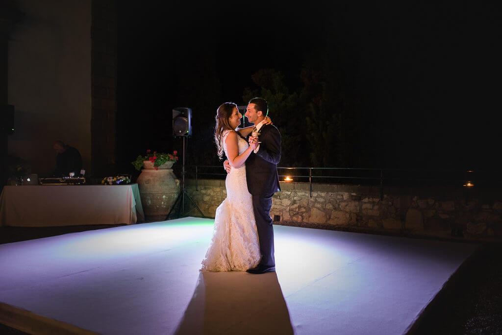 wedding reception in a castle