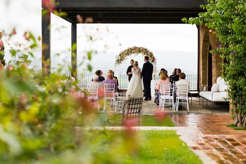 ceremony in a private villa in Italy