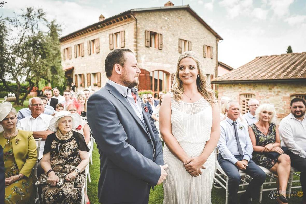 civil ceremony in San Gimignano