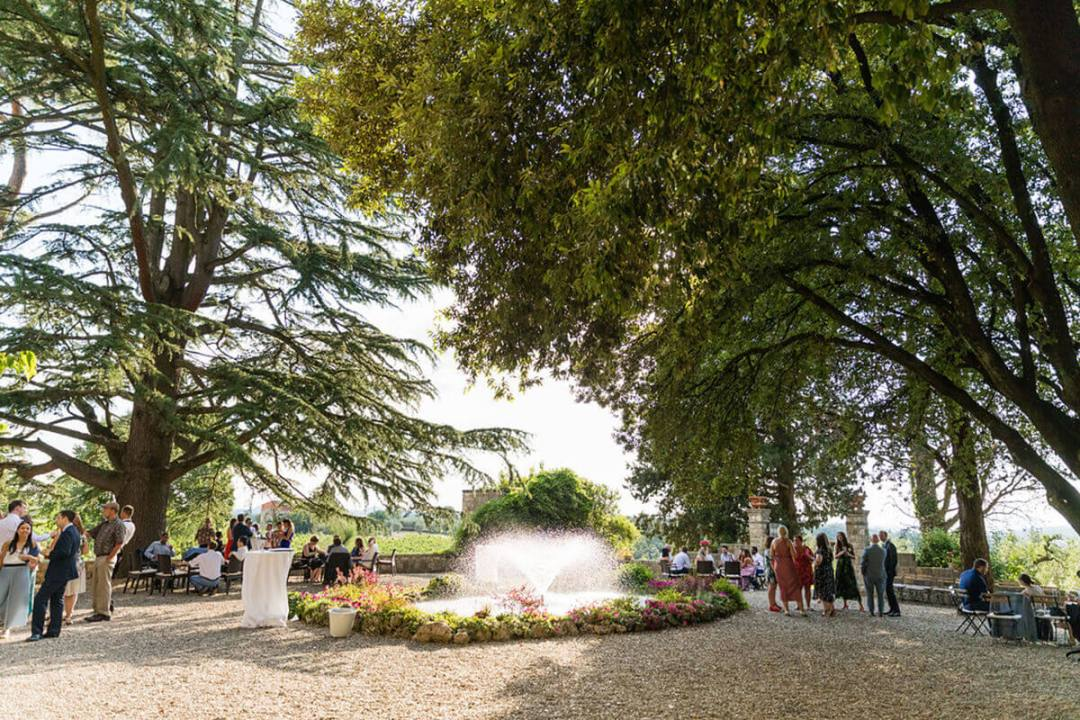 wedding in a castle in Chianti